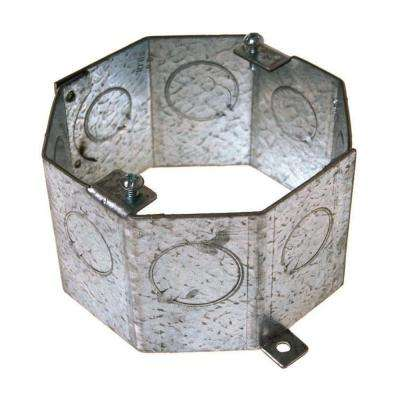 4 in. Octagon Concrete Ring, Welded, 2-1/2 in. Deep with 1/2 in. and 3/4 in. KO's (25-Pack)