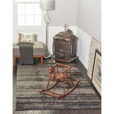 Del Mar Lucille Dark Gray 2' 7 x 10' 0 Runner Rug