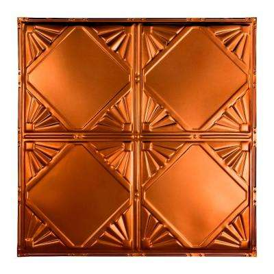 Erie 2 ft. x 2 ft. Nail-up Tin Ceiling Tile in Copper