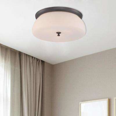 Studio 2-Light Oil Rubbed Bronze Interior Incandescent Flush Mount