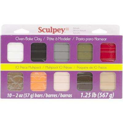 2 oz. Polymer Clay Natural Colors Multipack (10-Pack)