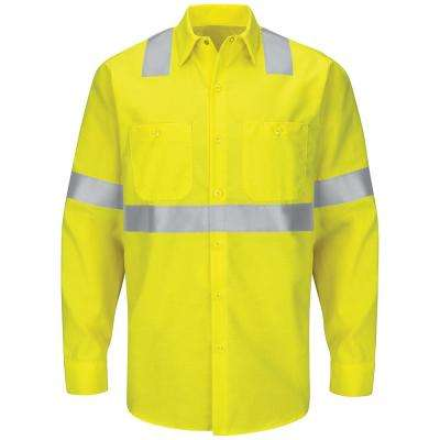 Class 2 Level 2 Men's Yellow/Green Hi-Visibility Ripstop Work Shirt