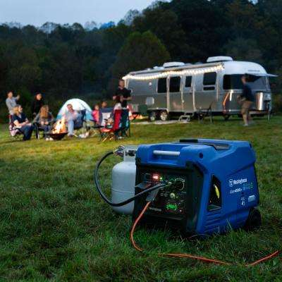 4,500 Dual Fuel Gasoline or Propane Portable Inverter Generator with LED Display and Remote Electric Start