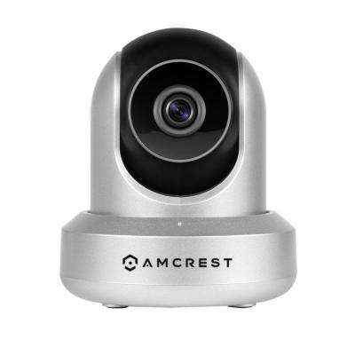720P Wi-Fi Video Monitoring Security Wireless IP Camera with Pan/Tilt, 2-Way Audio, Plug and Play Setup IPM-721S Silver