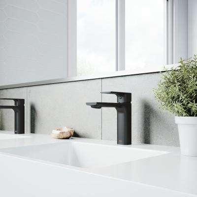 Davidson Single Hole Single-Handle Bathroom Faucet in Matte Black