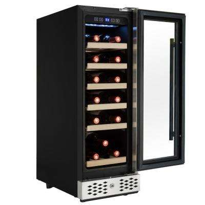 11.75 in. 18-Bottle Wine and 36-Can Built-in Compressor Beverage Cooler