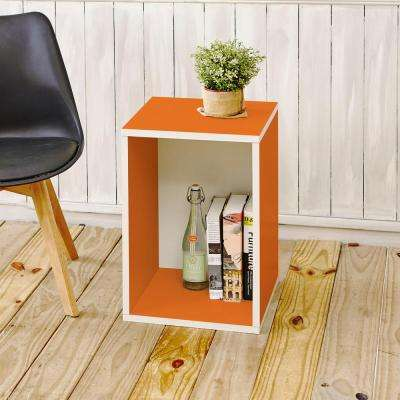 Blox System Vertical Orange Stackable Modular Open Bookcase