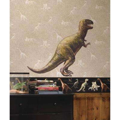 5 in. x 19 in. Dinosaur T-Rex Peel and Stick Giant Wall Decal