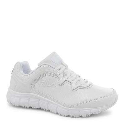 Memory Fresh Start Women White Leather/Synthetic Soft Toe Work Shoe
