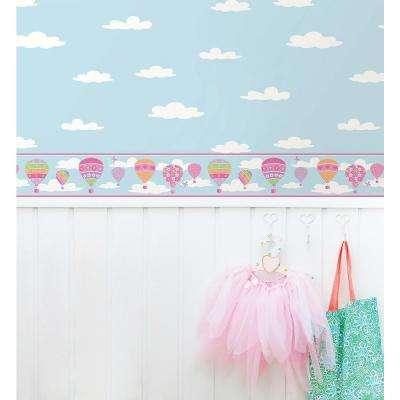 Balloons Blue Wallpaper Border