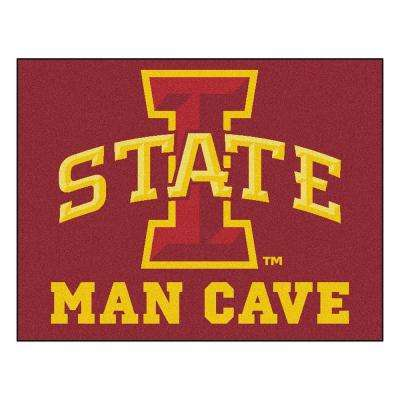 Iowa State University Red Man Cave 2 ft. 10 in. x 3 ft. 9 in. Accent Rug