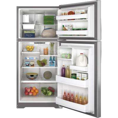 18.2 cu. ft. Top Freezer Refrigerator in Stainless Steel, ENERGY STAR