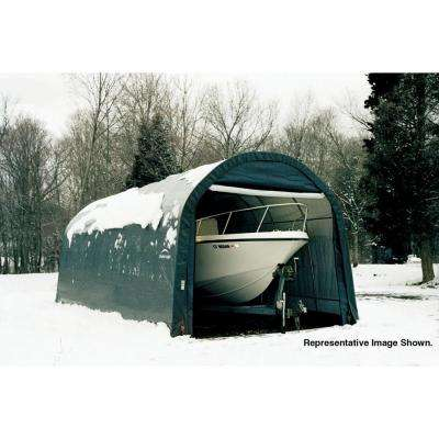 ShelterCoat 13 ft. x 20 ft. Wind and Snow Rated Garage Round Green STD