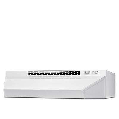 24 in. Ductless Under Cabinet Range Hood with Light in White