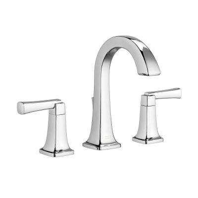 Townsend 8 in. Widespread 2-Handle High-Arc Bathroom Faucet with Speed Connect Drain in Polished Chrome