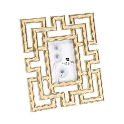 Gilded Garden Gate 1-Opening 4 in. x 6 in. Oak in Gold Finish Picture Frame