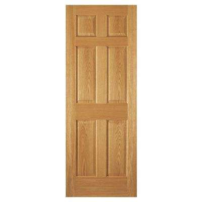 6-Panel Unfinished Red Oak Interior Door Slab