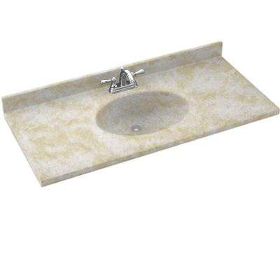 Chesapeake 43 in. Solid Surface Vanity Top with Basin in Cloud White