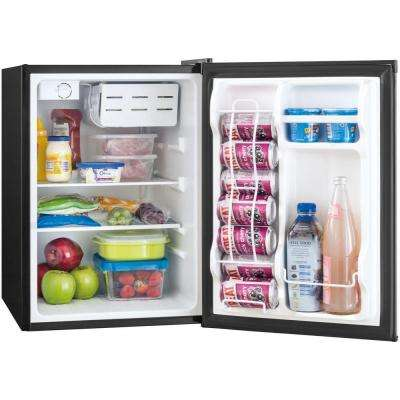 2.4 cu. ft. Mini Refrigerator with Freezer in Black, ENERGY STAR