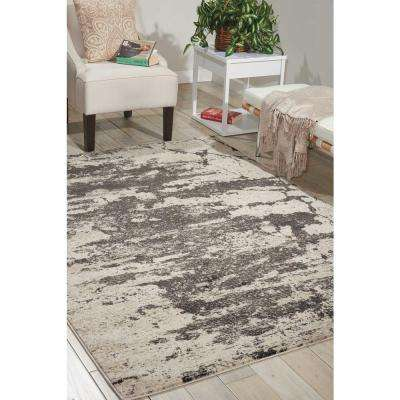 Maxell Ivory/Grey 5 ft. x 7 ft. Area Rug