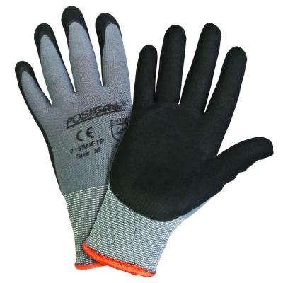 Black Foam Coated Large Gloves (12-Pack)
