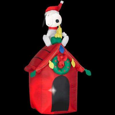 4 ft. Inflatable Snoopy on Doghouse w/Woodstock