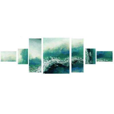 "32 in. x 81 in. ""Wave Me Over"" Printed Canvas Wall Art"