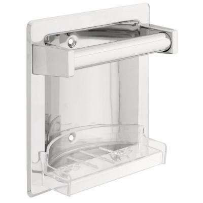 Franklin Brass Futura Recessed Soap Dish with Bar in Chrome