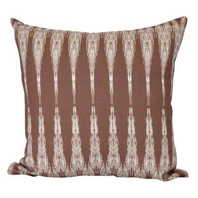 18 in. Peace 1 Geometric Print Decorative Pillow