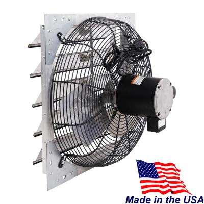 3,300 CFM 20 in. Shutter Mounted Variable Speed Exhaust Fan, Extruded Aluminum Frame, Rust Proof