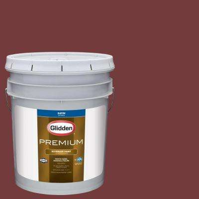 5-gal. #HDGR52 Classic Burgundy Satin Latex Exterior Paint