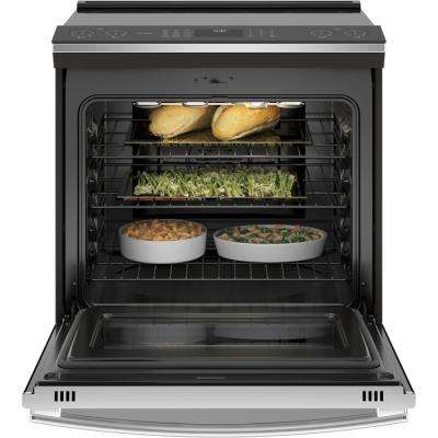 Profile 5.3 cu .ft. Slide-In Smart Induction Range with Self-Cleaning Convection Oven in Stainless Steel