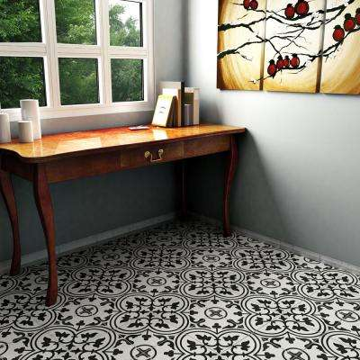 Arte White Encaustic 9-3/4 in. x 9-3/4 in. Porcelain Floor and Wall Tile (36 cases / 399.96 sq. ft. / pallet)