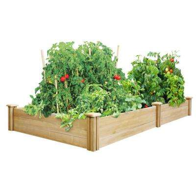 4 ft. x 8 ft. x 10.5 in. Dovetail Cedar Raised Garden Bed