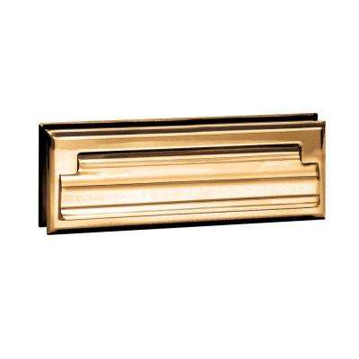 4000 Series 8.75 in. W x 2.75 in. H x 1.75 in. D Standard Letter Size Mail Slot in Brass Finish