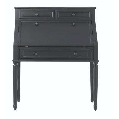 Ingrid Secretary Desk in Rubbed Black