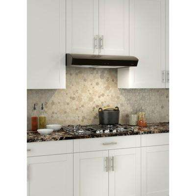 Mantra AVDF1 Deluxe 30 in. Convertible Under Cabinet Range Hood with Light in Black