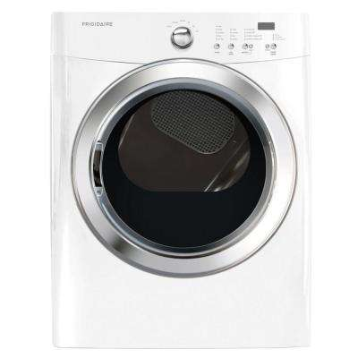7.0 cu. ft. Electric Dryer in Classic White