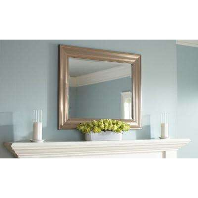 Geneva 36 in. x 30 in. Polished Pewter Framed Mirror