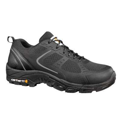 Men's Lightweight Low Black Nylon Mesh NWP Steel Safety Toe Work Shoe