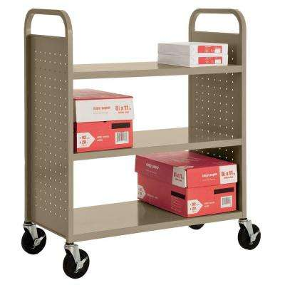 Tropic Sand Mobile Steel Bookcase