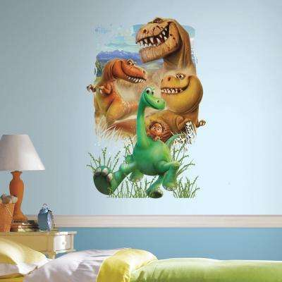 2.5 in. W x 27 in. H The Good Dinosaur Gang Peel and Stick Giant Wall Decal