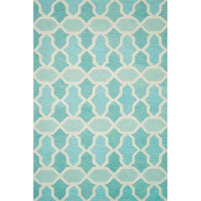 Weston Lifestyle Collection Aqua 7 ft. 9 in. x 9 ft. 9 in. Area Rug