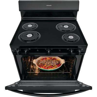 30 in. 4.2 cu. ft. Electric Range in Black