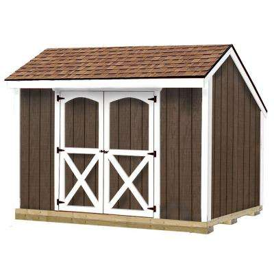 Aspen 8 ft. x 10 ft. Wood Storage Shed Kit with Floor including 4 x 4 Runners
