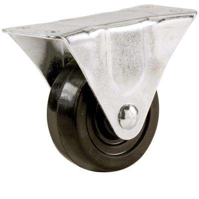 2-1/2 in. Soft Rubber Rigid Caster with 100 lb. Load Rating