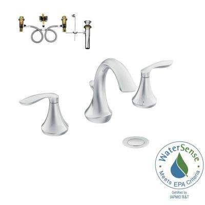 Eva 8 in. Widespread 2-Handle Bathroom Faucet Trim Kit with Valve in Chrome