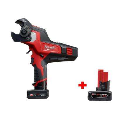 M12 12-Volt Lithium-Ion Cordless 600 MCM Cable Cutter Kit W/ Free 6.0ah Battery