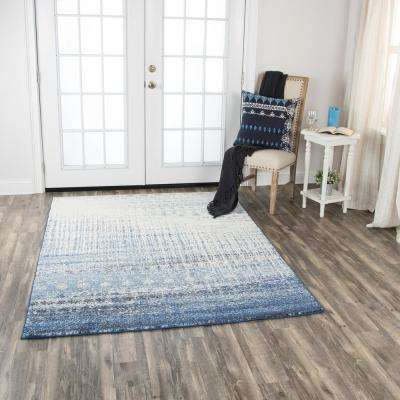 Encore Blue/Ivory 5 ft. 2 in. x 7 ft. 3 in. Rectangle Area Rug