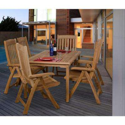 Zurich Teak 7-Piece Patio Dining Set